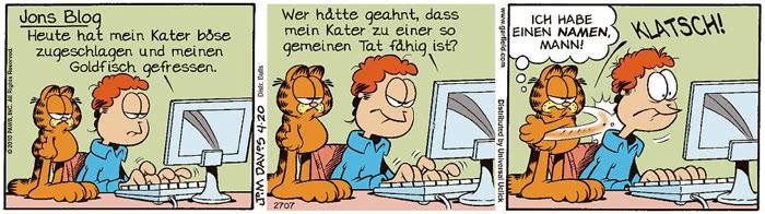 Garfield vom 03.08.2021